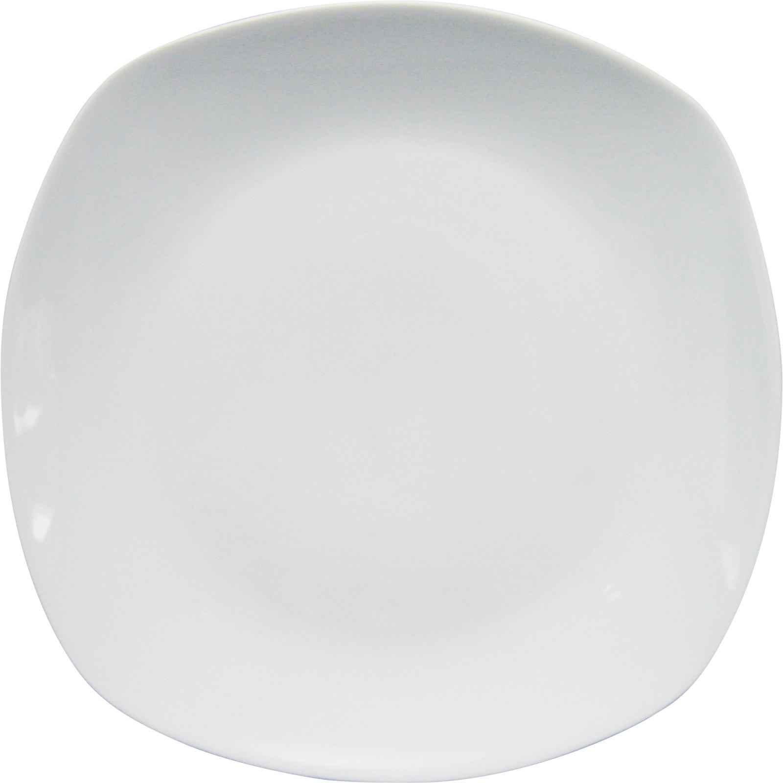 TELLER 26,5 cm Porzellan Speiseteller Essteller Flach Weiß